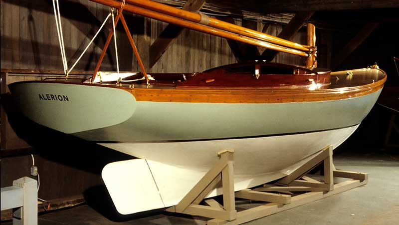 VIDEO: Herreshoff ALERION at Mystic Seaport | Off Center Harbor