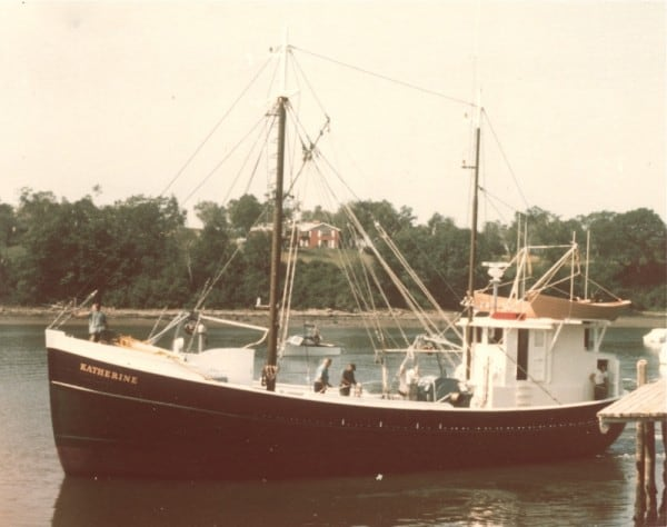 The 65' dragger KATHERINE was launched June 10, 1975 as the last of the Newbert & Wallace draggers.