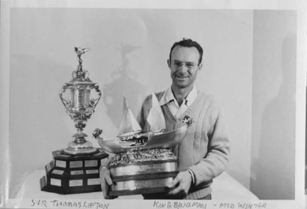 Alex Irving with the Sir Thomas Lipton Cup
