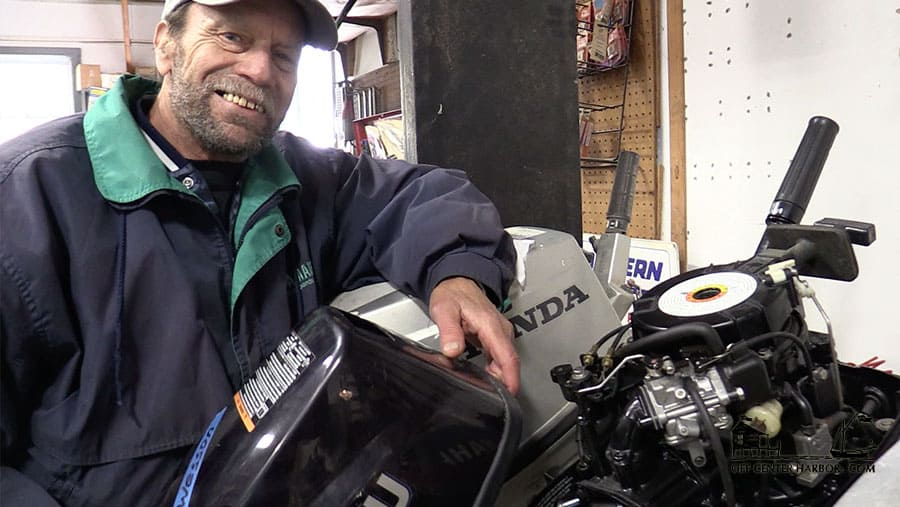 How to Winterize a Small Outboard Motor, Part 1 - Flushing the System and Fogging Out - OffCenterHarbor.com